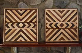 aztec wood wall art