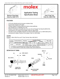 Application Tooling Specification Sheet Modular Crimp Head