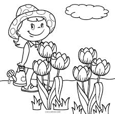 Free Coloring Pages Free Printable Bursting Blossoms Flower Coloring