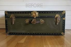 old trunk coffee table a thrify makeover before artsyrule com