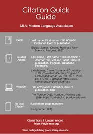 Mla Modern Language Association 8th Edition Citation Resources