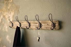 wall coat rack with hooks vintage wall hooks rustic wood coat rack with vintage wire hooks