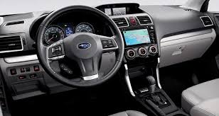 subaru forester interior. the interior of 2017 subaru forester receives some enhancements over 2016