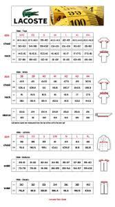 Lacoste Size Chart Lacoste Size 8 Chart Lacoste Polo Shirt Size Chart