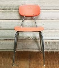 vintage school chairs. Beautiful Vintage Vintage Mid Century School Chair Coral Intended School Chairs