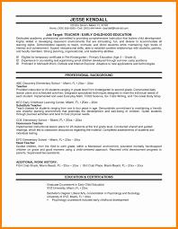 Resume Format For Montessori Teacher 100 Resume Format In Doc For
