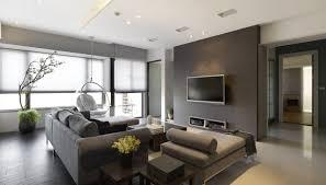 Warm Grey Living Room Living Room White Futons Gray Sofa White Pendant Lights Gray Rug