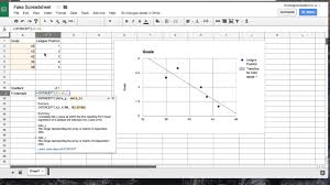 linear regression in google sheets regression on google sheets youtube