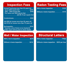 list of home inspection items pricing and service rates happy home inspections
