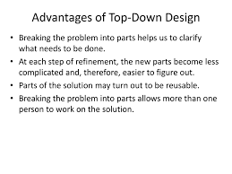Top Down Design Advantages Mathematical Programming With Matlab Ppt Download