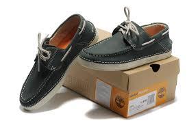 Timberland Men 2 Eye Boat Shoes Green Gray Timberland
