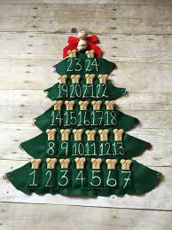 advent calander pet treat advent calendar felt christmas tree magnet 25