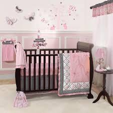 pink girl crib bedding