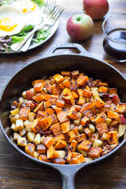 roasted ernut squash hash with