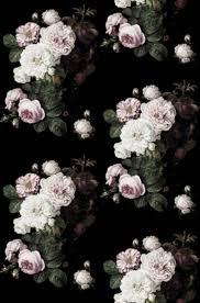 Donkere Bloemen Behang Zwart Floral Verwisselbare Behang Etsy
