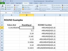 Excel Round Formulas Rounding Numbers In Excel 2010 With Round Roundup And