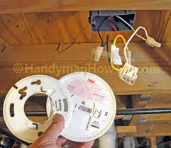 how to install a hardwired smoke alarm troubleshoot ac wiring remove the old firex smoke alarm model 120 1182