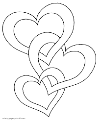 Small Picture Heart Coloring Pages To Print Coloring Coloring Pages