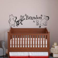 Classic Winnie The Pooh Baby Name Wall Decal Pooh Bear Pertaining To Winnie  The Pooh Wall