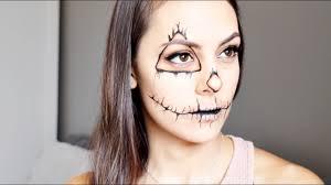 easy scarecrow halloween makeup tutorial