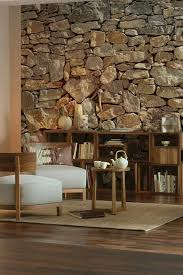 16 Unique Indoor Stone Walls  http://www.minimalisti.com/