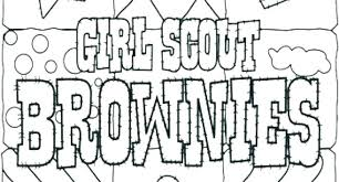 Daisy Scout Coloring Pages Girl Scout Brownie Coloring Pages Girl