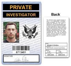 Pvc Card Investigator Id Private