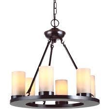 sea gull lighting ellington 6 light burnt sienna single tier chandelier