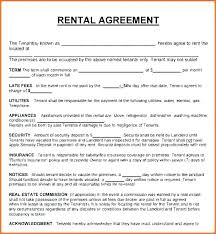 sample of contracts simple one page rental agreement house lease contract