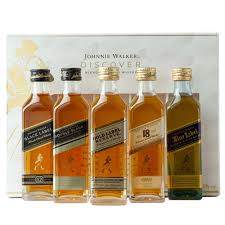 johnnie walker blended scotch whisky 5x 50ml discovery pack drinksupermarket