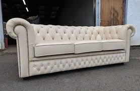 birch ivory chesterfield 3 seater sofa