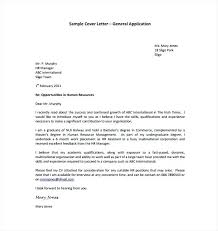 General Purpose Cover Letter Generic Cover Letter Template Fresh