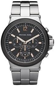 amazon com michael kors chronograph stainless steel mens watch michael kors chronograph stainless steel mens watch mk8151