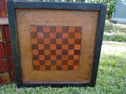 Old Fashioned Wooden Games Antique wooden game board early better sweet paint great checker 61