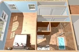 floor plans of master suite over garage addition