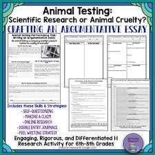 argumentative writing special education teaching resources  argumentative essay animal testing scientific research or animal cruelty argumentative essay ·