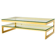tier glass gold coffee table
