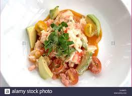 Alaskan King Crab Avocado Salad Stock ...