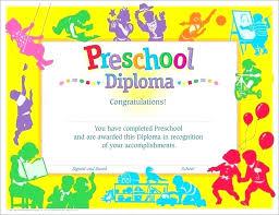 free preschool certificates kindergarten certificate template