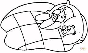 Small Picture Child Praying in Bed coloring page Free Printable Coloring Pages