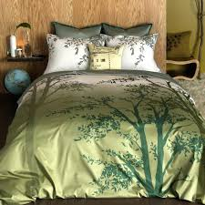twin duvet cover set find your way in the earthy green tones of this olive linen