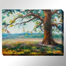 my oak tree canvas wall art multi cool