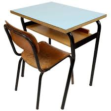 very nice small school desk and chair italy 1950s at 1stdibs throughout chairs decorations 2