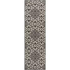 booroomba black 2 ft x 12 ft indoor outdoor runner rug