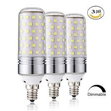 15w dimmable led corn bulbs e12 led candelabra light bulbs 100 watt equivalent 1000lm daylight white 6000k led chandelier bulbs decorative candle base