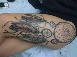 Dream Catcher Tattoo On Leg Upper Leg Tattoos For Girls Dream Catcher Tattoo On Right Leg For 13