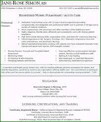 Resume Nurse Sample Resume Of Icu Staff Nurse 42 Ideas You Need To Know