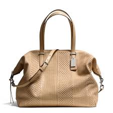 The Bleecker Large Cooper Satchel In Perforated Leather from Coach Summer  purse