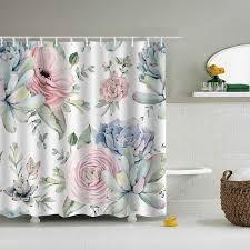 180x180cm green leaves printed shower curtain 3d plant waterproof bathroom decoration