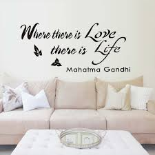 where there is love there is life wall sticker quotes self adhesive wallpaper vinyl wall art on self adhesive wall art stickers with where there is love there is life wall sticker quotes self adhesive